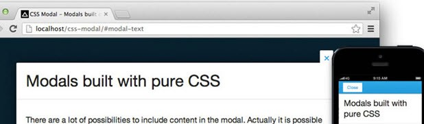 Pure CSS Modal