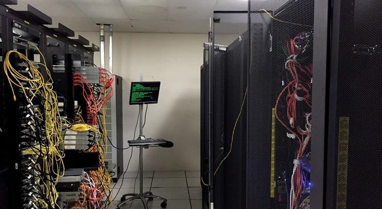 Un centre de données vu de l'intérieur