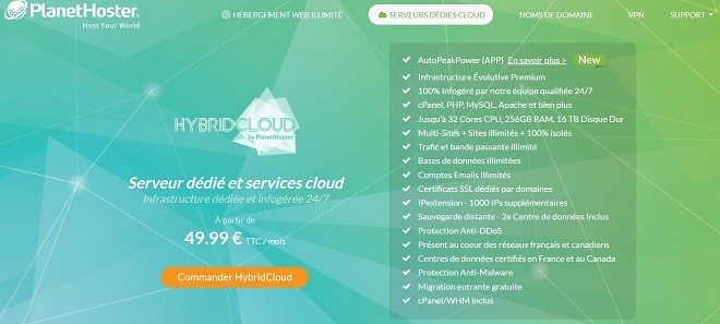 Serveur VPS Cloud Planethoster
