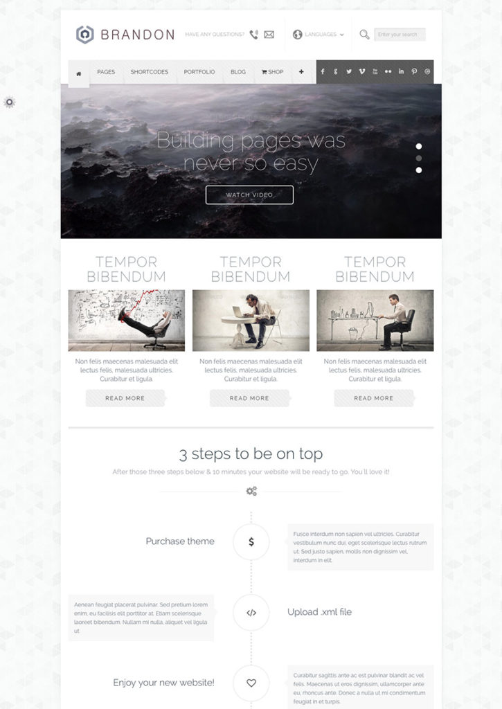 Template WordPress Brandon
