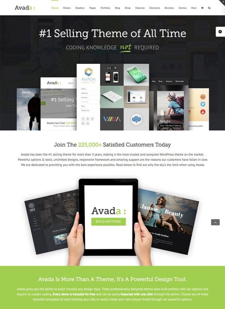 Avada est le thème WordPress le plus vendu sur Envato Market