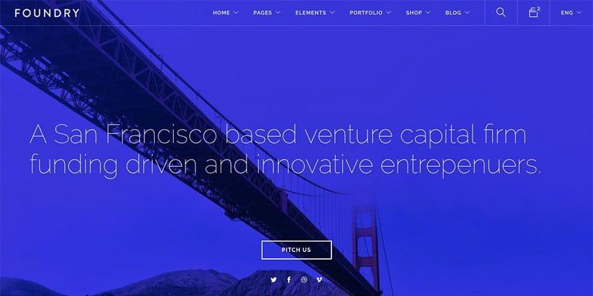 template WordPress Foundry